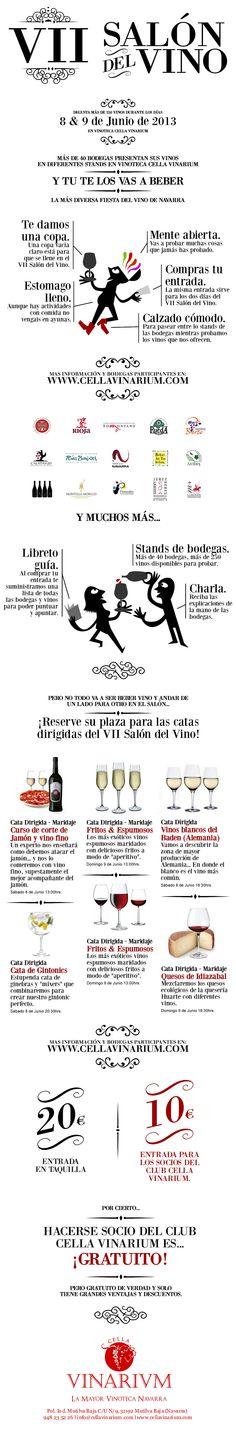 El VII Salón del Vino de Vinoteca Cella Vinarium tendrá lugar los próximos días 8 y 9 de Junio... http://www.cellavinarium.com/salon_del_vino/VII_salon_del_vino_de_cella_vinarium.html