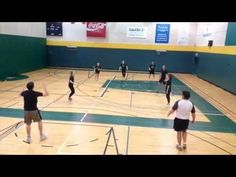 Growing Young Movers - Bound Ball. Modified volleyball game, bounce between each…