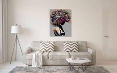 #homeliving #homedcor #walldcor Bohemian Wall Decor, Modern Wall Decor, Wall Art Decor, Colorful Wall Art, Large Wall Art, Pop Art Portraits, Large Canvas Prints, Loft Spaces, Living Room Art