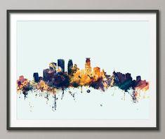 Minneapolis Skyline Minneapolis Minnesota Cityscape Art Print (1865) (11.99 GBP) by artPause