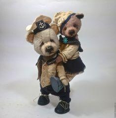 Купить мишка тедди Морячка и Моряк - мишка ручной работы, мишка тедди, подарок девушке