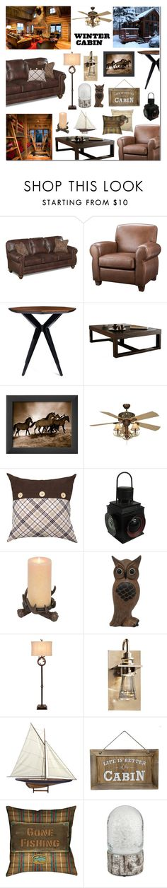 """winter cabin"" by anyasdesigns ❤ liked on Polyvore featuring interior, interiors, interior design, home, home decor, interior decorating, Dorel, Kate Spade, Vaxcel Lighting and Colordrift"