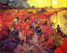 Third year Art student Serena Malyon applied the tilt-shift photography technique to famous van Gogh paintings using Photoshop, so they took on the illusion of three-dimensional scenes. Love it!