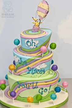 Amazing Oh, The Places You'll Go! cake.