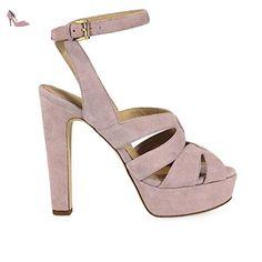 MICHAEL KORS SANDALES WINONA DAIM ROSE - Chaussures michael kors (*Partner-Link)