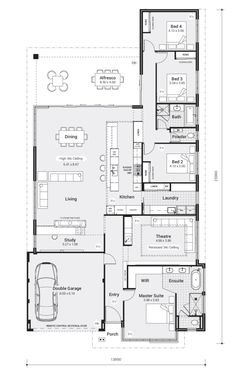 The Marshall - RedInk Homes 5 Bedroom House Plans, New House Plans, Dream House Plans, House Floor Plans, Dream Home Design, House Design, My Ideal Home, Sims House, Farmhouse Plans