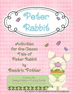 These activities are a perfect follow up to the beloved story, The Tale of Peter Rabbit.