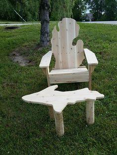 Michigan adirondack chair Michigan chair by TwoHeartedCabincraft