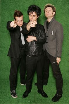 Green Day: Frank Edwin Wright III (Tre Cool), Billie Joe Armstrong and Michael Ryan Pritchard (Mike Dirnt)