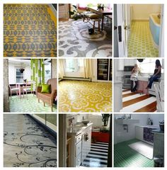 Stenciling and painting concrete floors. Comprehensive overview.