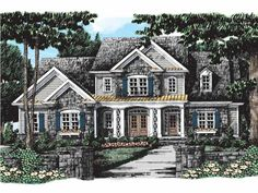 Eplans French Country House Plan - European Elegance - 2939 Square Feet and 4 Bedrooms from Eplans - House Plan Code French Country House Plans, European House Plans, Cool Ideas, The Sims, Sims 4, House On A Hill, House Floor Plans, Girls Bedroom, How To Plan