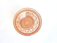 Pink Glass Bowl, Vintage Pink Glass, Pink Glass Candy Dish, Depression Era Bowl, Pink Glass, Vintage Glass Bowl, Vintage Candy Bowl by FarahLynnDesign on Etsy