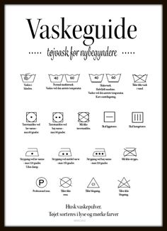 Vaskeguide - hvid Happy Mom, Moving Out, Home Hacks, Signs, School Supplies, Good To Know, Cleaning Hacks, Growing Up, Fun Facts
