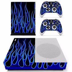 Blue Flame Skin - Xbox One Slim Protector