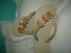 Sandalias Decoradas | Sandalia Chinelo Havaianas Bordadas Decoradas Artesanalmente - R$ 37 ...