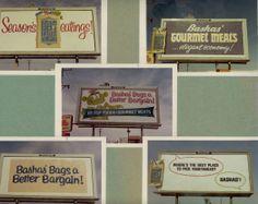 Early 70s Bashas' billboards. bashas.com