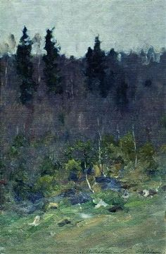 Early spring. The last snow. - Isaac Levitan