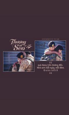 Thượng sĩ Seo, quà đang trên đường đến. Nhớ anh mỗi ngày, mỗi đêm.  Đoàn kết!! [Phim: Descendants of the Sun]