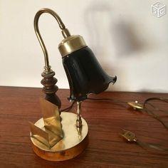 Good Lampe bureau opaline r glisse cm vintage