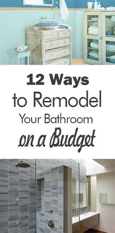 DIY Bathroom Remodel on a Budget (LiveDIY) | Diy bathroom ... on cheap landscaping tips, cheap remodeling ideas, cheap design tips,