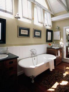 Bath...love the windows and ceilings