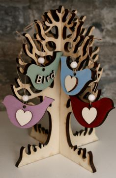 This is our 6mm Messy Church Prayer Tree, with hanging bird shapes. You can find the trees and birds on our website
