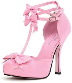 "4"" Retro Satin Pumps in Pink"