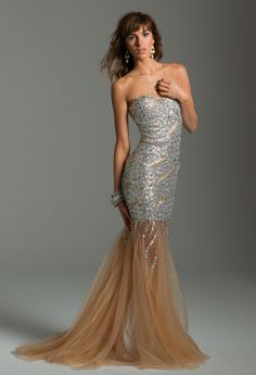 Long Sequin Illusion Dress from Camille La Vie and Group USA