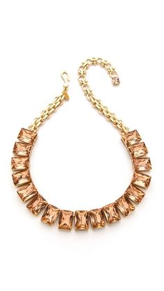 Crystal Stone Necklace - would be pretty in ombre colored stones
