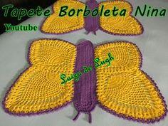 Luiza de Lugh / Youtube Crochet Home Decor, Crochet Crafts, Crochet Woman, Crochet Top, Crochet Stitches, Embroidery Stitches, Borboleta Crochet, Bathroom Crafts, Crochet Patterns For Beginners