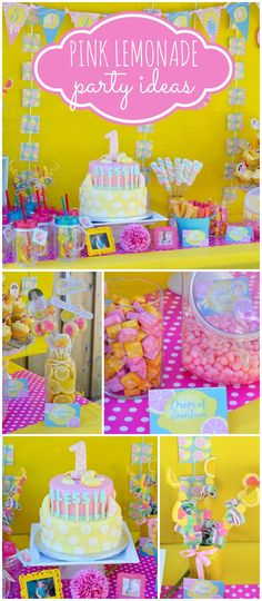 How cute is this sunshine and lemonade first birthday party! See more party ideas at CatchMyParty.com!