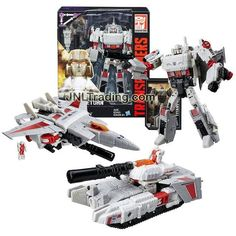 Hasbro Year 2015 Transformers Generations Titans Return Voyager Class 7 Inch Tall Figure - DOOMSHOT and MEGATRON with Cannon and Card (Alt Mode: Jet and Tank)
