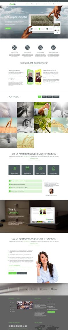 Creatika is Premium Responsive Retina Parallax Multipurpose HTML5 Template. Revolution Slider. Video Background. Isotope Portfolio.