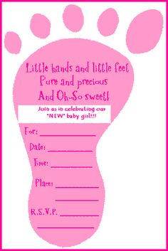 Finding free printable baby shower invitations is easy with these resources. Print, save to your computer, or e-mail these fun and festive baby shower invites to send to your friends and family. Free Baby Shower Invitations, Free Baby Shower Printables, Baby Shower Invitation Wording, Baby Shower Invites For Girl, Baby Shower Favors, Baby Boy Shower, Baby Showers, Invitation Ideas, Homemade Invitations
