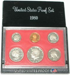 1980 P+D US Mint Set ~ Susan B Anthony Kennedy Washington Roosevelt Jefferson