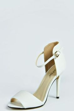 boohoo Scarlett Barely There Heel - white £18.00 by boohoo.com