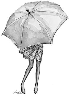 quenalbertini: Vintage Umbrella by Inslee Girly Drawings, Easy Drawings, Umbrella Art, White Umbrella, Vintage Umbrella, Vintage Drawing, Amazing Drawings, Art Design, Art Plastique