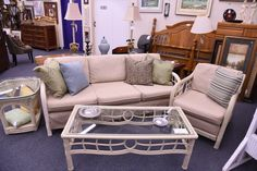 Summer never really ends if you have a four season porch or sun room addition, and its not too late too still grab a great deal on furniture for it! This sturdy set is in excellent shape!