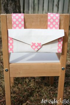 Dukes and Duchesses: A Chair Back Envelope