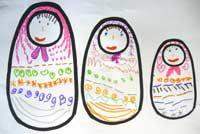 matriochkas école maternelle graphisme
