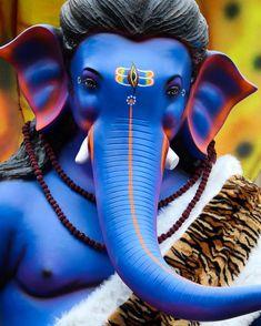No photo description available. Shri Ganesh Images, Hanuman Images, Lord Shiva Hd Images, Ganesha Pictures, Shiva Lord Wallpapers, Jai Ganesh, Ganesh Lord, Shree Ganesh, Krishna Hindu