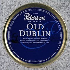 Peterson Old Dublin Pipe Tobacco. A full English with lots of Latakia. LaFrogue and McCallen's suit it well.