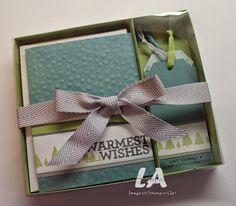 Stampin' Up!, LA Stamper: Christmas Bliss, All Is Calm Card & Tag Set