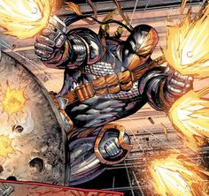 Deathstroke by jadecks on DeviantArt Dc Deathstroke, Deathstroke The Terminator, Deadshot, Comic Book Artists, Comic Books Art, Comic Art, Comic Villains, Comic Book Superheroes, Arte Dc Comics