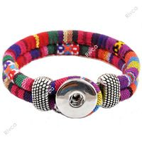 newest Easy rivca Button bracelet  cord size 6mm for 18mm button