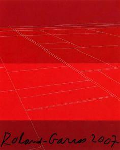 Roland Garros 2007.  L'affiche de l'édition 2007 est l'œuvre de l'artiste new yorkaise Kate Shepherd. C'était la première fois qu'une femme réalisait l'affiche du tournoi. © Kate Shepherd - Galerie Lelong - FFT