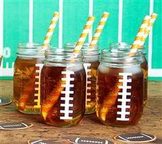 Football Mason Jars (pair with Football Favor Boxes)