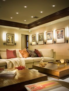 Love this for my movie room ... DKOR Interiors - Interior design in Hibiscus Island, South Beach, FL
