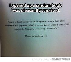 If I ever write a book, I am so doing this!!