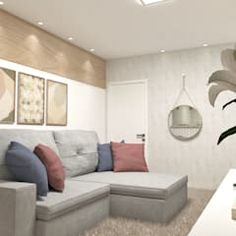 Viviendo verde minimalist living room | homify Marginata Plant, Minimalist Living, Couch, Interior Design, Living Room, Furniture, Home Decor, Green, Nest Design